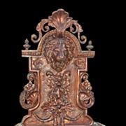 Bronze Lion Wall Fountain
