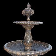 Bronze Swan Fountain