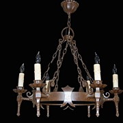 SALE French Iron Medieval Chandelier