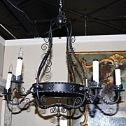 SALE Spanish Style Iron Chandelier