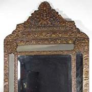 Victorian Metal Embossed Mirror