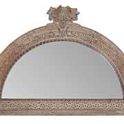 19th c. Continental Carved Mirrored Transom