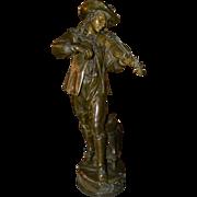 Italian Bronze Musician Statuette