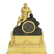 Handsome French Napoleon III Dore Bronze Clock