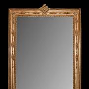 SALE Antique French Giltwood Mirror