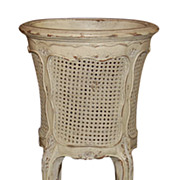 French Caned & Painted Planter