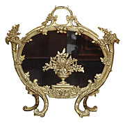 Heavy French Bronze Fire Screen