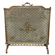French Bronze Fire Screen