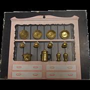 SOLD Brass Miniature Dishes, Decor. Accessories