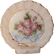 Crown Tuscan Shell Dish Hand Painted