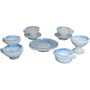 Opalescent Glass Doll Dishes Japan