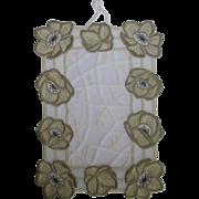 SOLD Floral Lace Mat