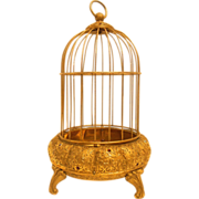SOLD Jeweled Brass Bird Cage