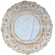 Lace and Linen Table Cover