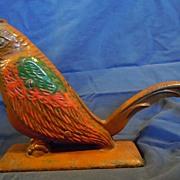 Cast iron parrot nut cracker