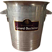 SOLD 'Champagne Canard Duchene' Vintage Champagne Bucket from France