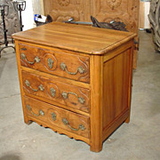 Small Antique Walnut Wood* Commode from France
