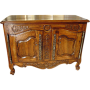 18th Century Walnut Wood Buffet Provencale