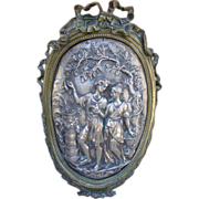 Antique Bronze Louis XVI Style Plaque, Early 1800's