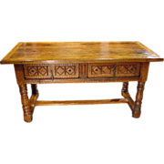 Carved 18th Century Spanish Desk or Table