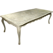 Painted Antique Liegoise Dining Table from the Early 1900s