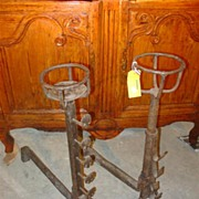 Antique Fireplace Andirons from France