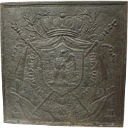 Large Napoleon Coat of Arms Fireback, Early 1800s