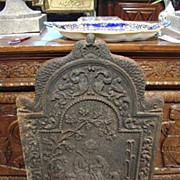 Nicely Detailed Antique Fireback