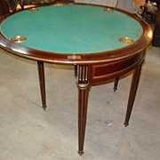 French Antique Demi Lune Game Table