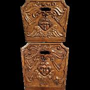 18th Century French Walnut Wood Crib Sides