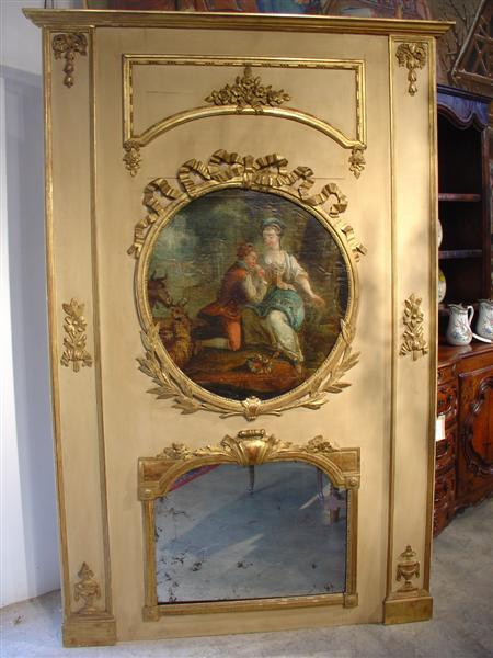 napoleon iii trumeau mirror from lelouvrefrenchantiques on ruby lane. Black Bedroom Furniture Sets. Home Design Ideas