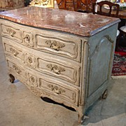 Antique Painted Commode with Conforming Marble Top