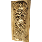 A Large Louis XVI Style Carved Door or Panel from France