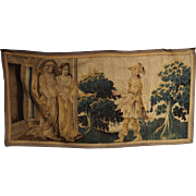 Antique Tapestry Fragment from Flanders, 1600s