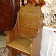 Mid 19th Century Italian Walnut Wood Chair