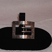 SALE Sterling Silver  Hallmarked Ornate Victorian Ladies Belt Buckle