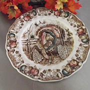 "SALE Vintage Johnson Brothers ""His Majesty"" Dinner Buffet Sized Plate 10.50"""