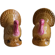 Vintage Set of Turkey Salt & Pepper Shakers