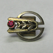 REDUCED Antique Arts & Crafts Era 800 Silver Decorative Watch Chain Slide