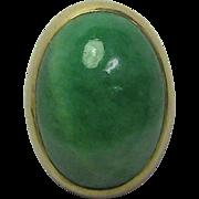 REDUCED Antique Edwardian 14K Gold Jade/Jadeite Cabochon Stick Pin