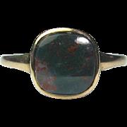 Antique Victorian 10K Gold Jasper Bloodstone Ring