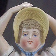 SOLD Antique Figural Bathing Beauty Match Holder