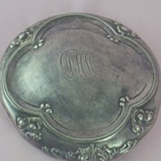 SOLD Antique Sterling Silver Vanity Hand Mirror ~ High Relief with Initials
