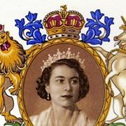 SOLD English Royalty ~ Queen Elizabeth II Coronation 1953 Commemorative Plate  ~ Royal Falcon