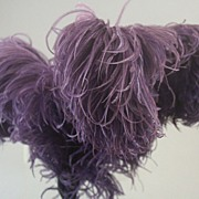 SOLD Victorian-Era Ostrich Feather Triple-Plume for Hats-Millinery, Decorative, Crafts