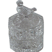SOLD Hofbauer Germany Byrdes Crystal Trinket Box