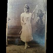 SALE Mobile Alabama Mardi Gras beautiful young woman in costume cabinet card photograph