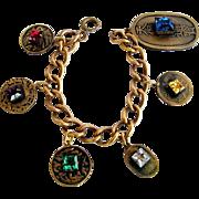 Joseff of Hollywood Asian Chinese theme Charm Bracelet