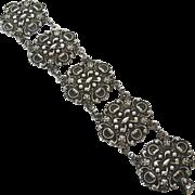 SALE Carrcraft Sterling Vintage Renaissance Revival Style Bracelet