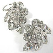 SALE PENDING Dazzling Vintage Eisenberg Clear Rhinestone Earrings
